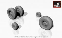 Armory Harrier FA.2 weighted wheels 1:72
