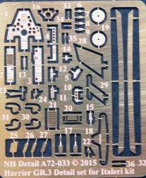 NH detail Harrier GR.3 Detail Set for Italeri 1:72