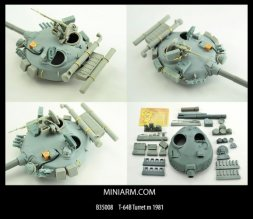 Miniarm T-64B turret Mod. 1981 for Trumpeter 1:35