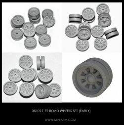 Miniarm T-72 Road wheels set (early) 1:35