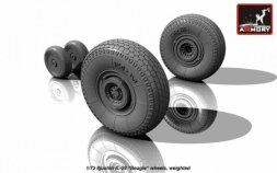 Armory Iljushin IL-28 Beagle wheels, weighted 1:72