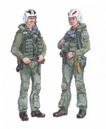 Plusmodel F-4 Phantom Crew 1:48