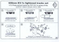 ACE KV-1 608mm lightened tracks set 1:72