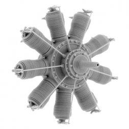 Small Stuff Gnome 9 Delta / Oberursel U.I (100 hp) Engine 1:48