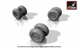 An-24 Coke / An-30 Clank wheels, weighted 1:72