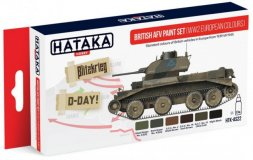 Hataka Hobby British AFV 1939-1945 paint set