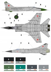 USSR - Russian Air Force - MiG-23, MiG-25, MiG-31