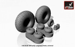 DH.98 Mosquito wheels (checkerboard) tire pattern 1:48