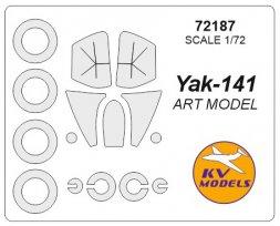 Yak-141 painting mask for ART Model 1:72