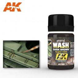 AK Interactive AK045 - Dark wash for green Vehicles - 35ml