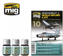 AMMO of MiG - Metallic Airplanes & Jets Weathering Set