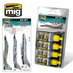 MiG & SU Grey & Green Fighters - Colors set