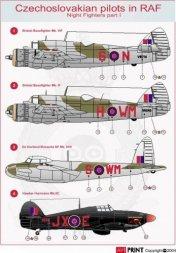 AVI Print Night Fighters P.1 - Czechoslovakian pilot in RAF 1:72