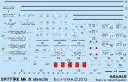 Eduard Spitfire Mk.IX stencils 1:48