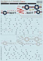 A-7 Corsair Technical stencils Us Navy 1:72