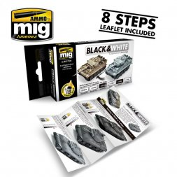 AMMO of MiG - Black & White Technique set