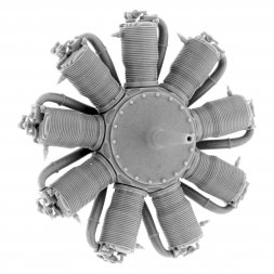 Le Rhone 9J (110 hp) Engine 1:48