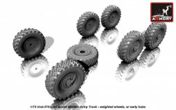 Ural-375/4320 weighted wheels w/ early hubs 1:72