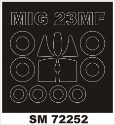 MiG-23MF/ML mask for KP/ RV 1:72