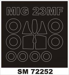 MiG-23MF/ML mask für KP/ RV 1:72