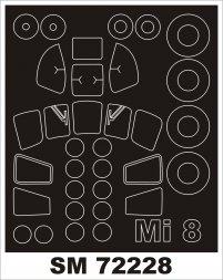 Montex Mil Mi-8 mask für Zvezda 1:72