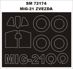 MiG-21bis mask für Zvezda 1:72