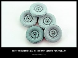 Miniarm GaZ-M1 highway wheel set 1:35