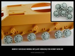 Miniarm T-50 Road wheels set (late version) For Hobby Boss 1:35
