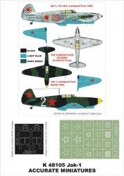 Montex Yak-1 für ACM./ Eduard 1:48