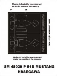 P-51D Mustang mask for Hasegawa 1:48