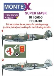 Bf 109E-3 Mask + Decals for Eduard 1:32