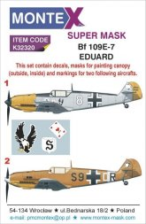 Bf 109E-7 super mask + Decals for Eduard 1:32
