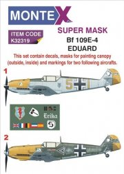 Bf 109E-4 mask + Decals for Eduard 1:32