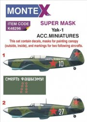 Montex Yak-1 mask + decals for ACM 1:48