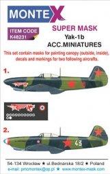 Montex Yak-1b maske + decals für ACM./ Eduard 1:48