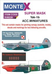 Montex Yak-1b maske + decals for ACM./ Eduard 1:48