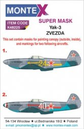 Yak-3 Super Mask for Zvezda Part.2 1:48