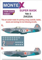 Montex Yak-3 Super Mask for Zvezda Part.1 1:48