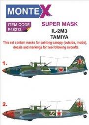 Montex Il-2M3 super mask + decals für Tamiya 1:48