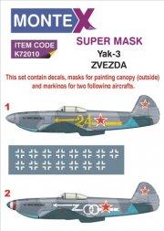 Montex Yak-3 super Mask for Zvezda 1:72
