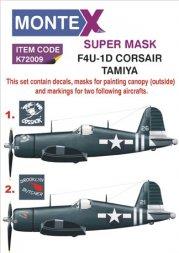 Montex F4U-1D Corsair super Mask for Tamiya 1:72