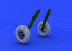 Eduard Brassin Spitfire wheels - 4 spoke w/ pattern 1:48