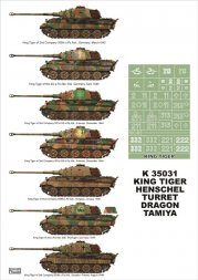 Montex King Tiger Henschel Turret Super Mask 1:35
