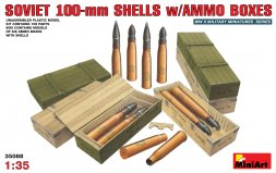 Soviet 100mm Shells with Ammo Boxes 1:35