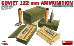 Soviet 122mm Shells with Ammo Boxes 1:35