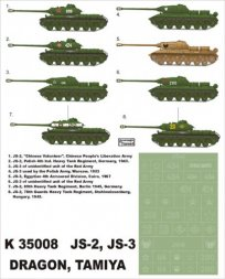 Montex IS-2 (late), IS-3 Soviet heavy tanks Part I 1:35