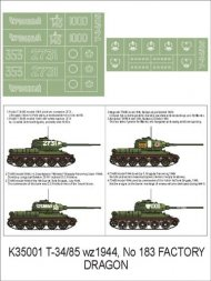 Montex T-34/85 mod. 1944 Factory 183 super mask 1:35