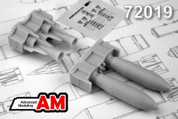 Advanced modeling FAB-500M-62 High-Explosive 500kg bomb 1:72