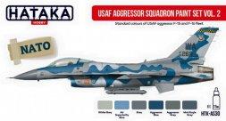 Hataka Hobby USAF Aggressor Squadron paint set vol. 2