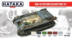 Hataka Hobby AFV Interior Colours paint set WW2
